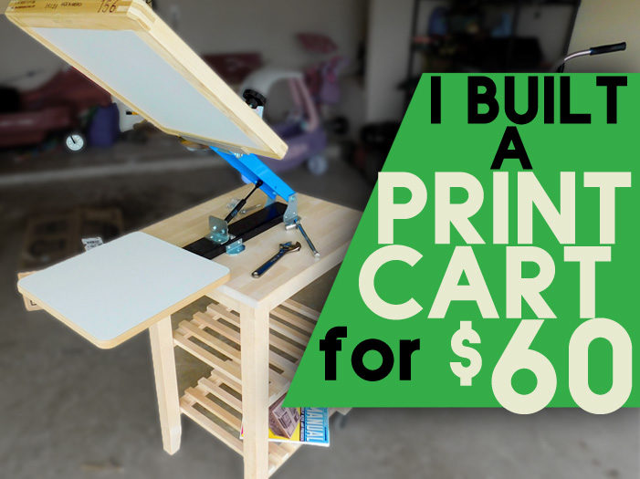 DIY Screen Printing Cart